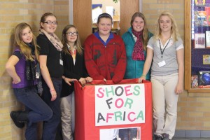 Ann Thonson SHOES FOR AFRICA - Decatur Middle School Kids Collection Bin Pic IMG_8948