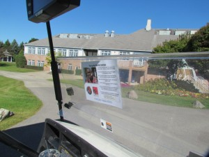 This golf cart is driven in honor of Mark Maina, a young man driven to study accounting.  Mark was 1 of 7 students sponsored during the event lunch.