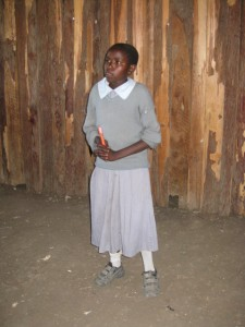 This is me in 2007 before I was sponsored.  Matanya's Hope gave me school supplies and shoes.