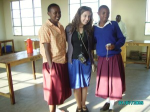 Talia traveled with Matanya's Hope for 17 1/2 hours to find me.  Here we are just moments after they arrived.  L to R Witness, Talia and Pendo (my best friend)