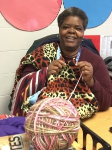 Blanket Angel Brenda Hobson of Decatur Middle School, Indianapolis  Indiana sewed over 100 fleece blankets for Matanya's Hope over the last two years