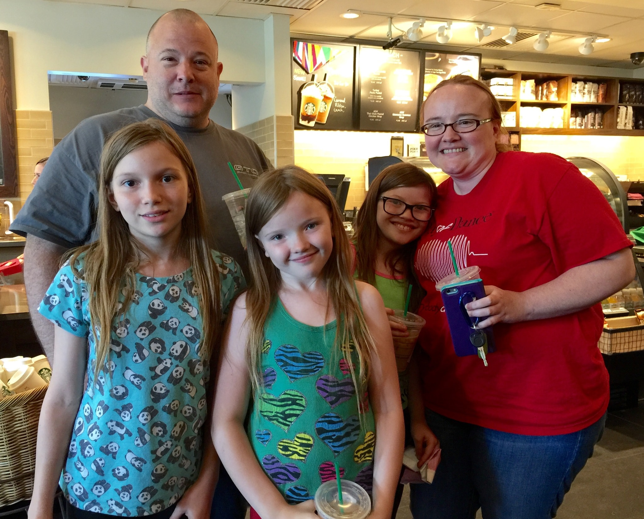 Carrie, Cheyenne, Savannah, Brooklynn and Ardean after returning lost documents to Matanya's Hope.