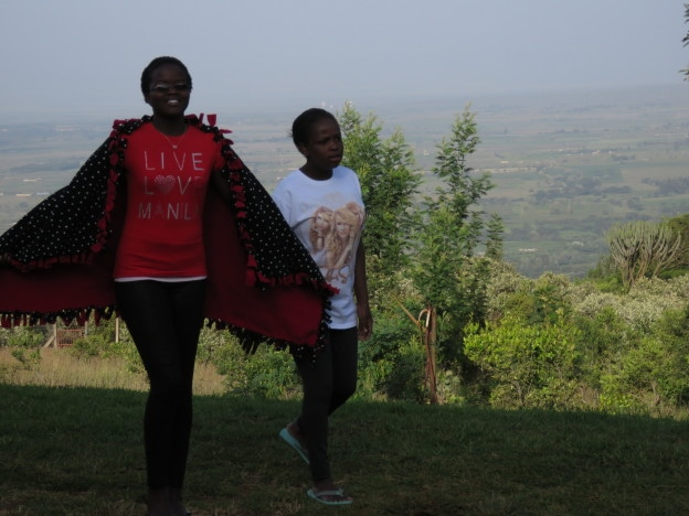 Naini and Winifred sharing a walk in Kenya's Rift Valley