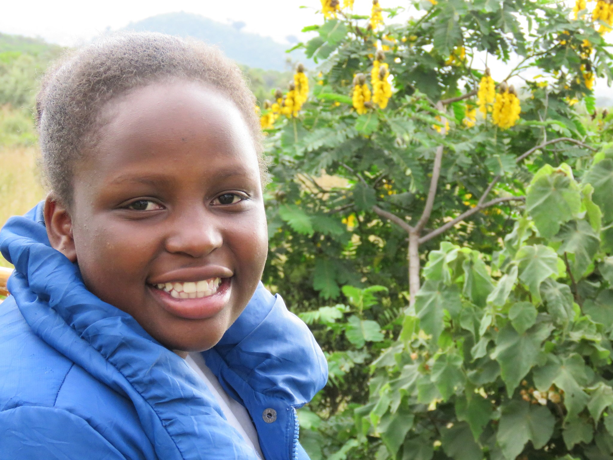 Hi.  I am Winifred Kinya.  By the grace of God, I've been sponsored by the Robinson's through  Matanya's Hope.  Thank you for changing my life!