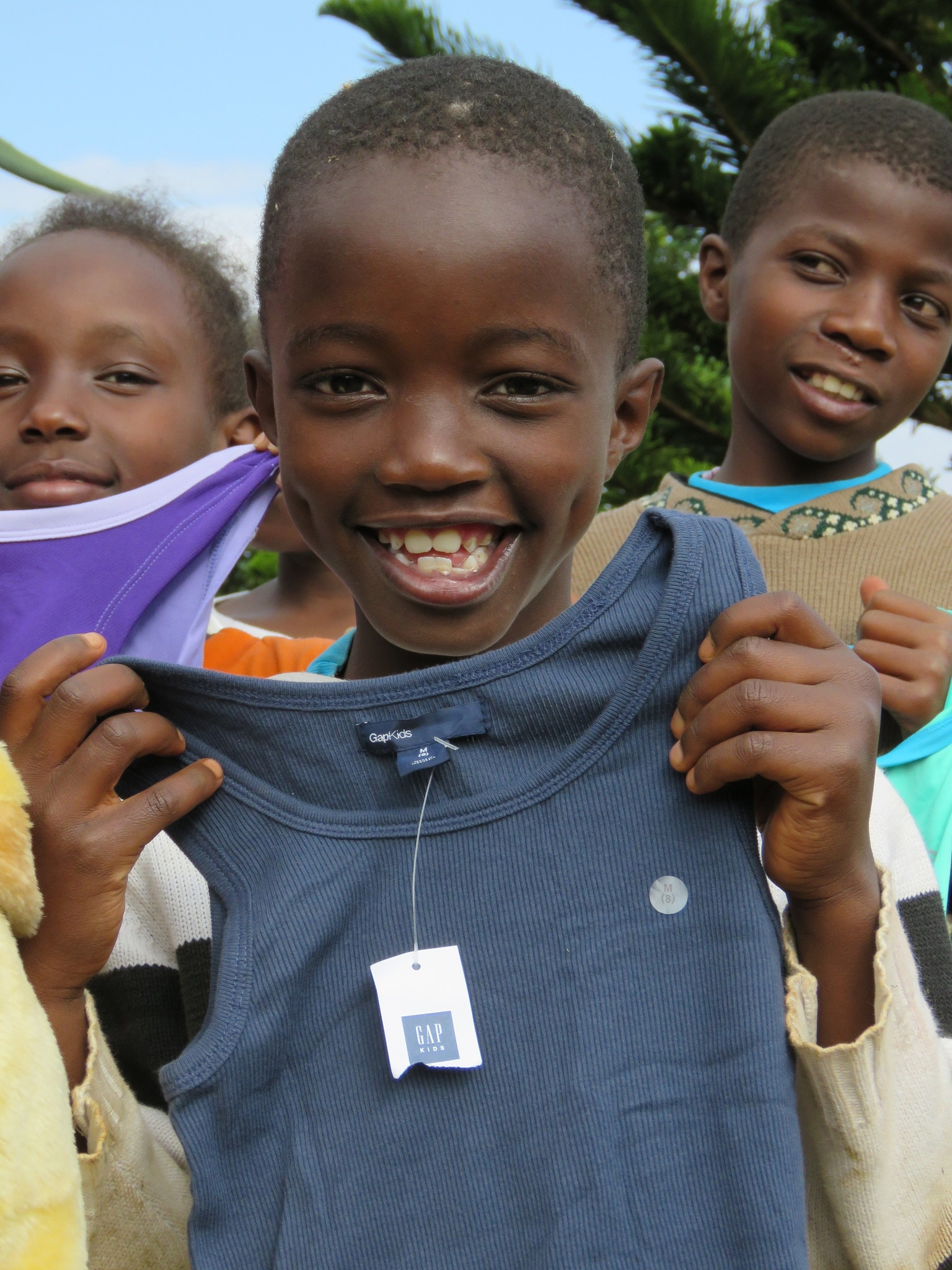 It was amazing to see how happy these children were to get a simple gift of an undershirt or some crayons.
