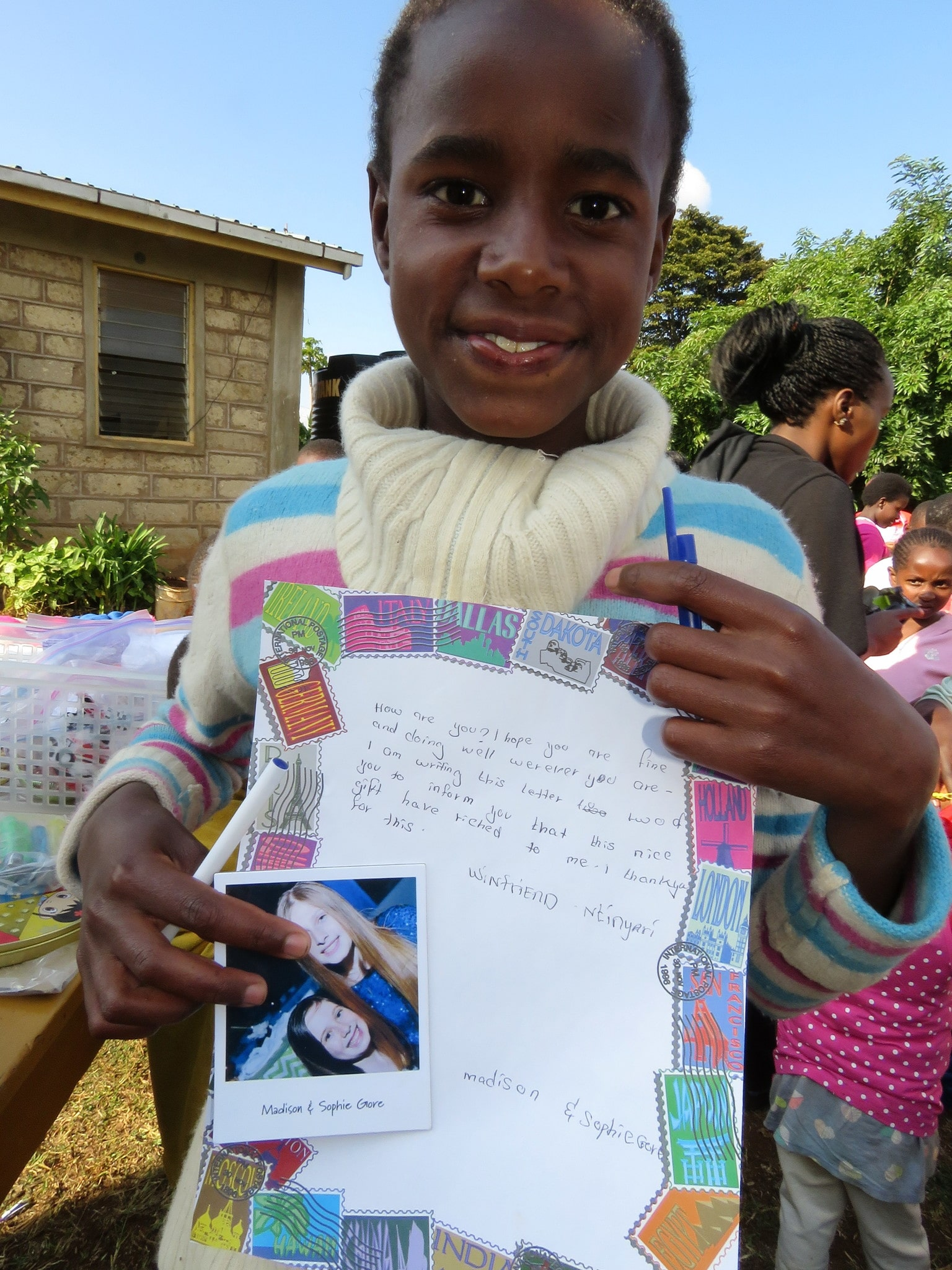 The children love receiving a letter and photo from their sponsors.  They are eager to write back.