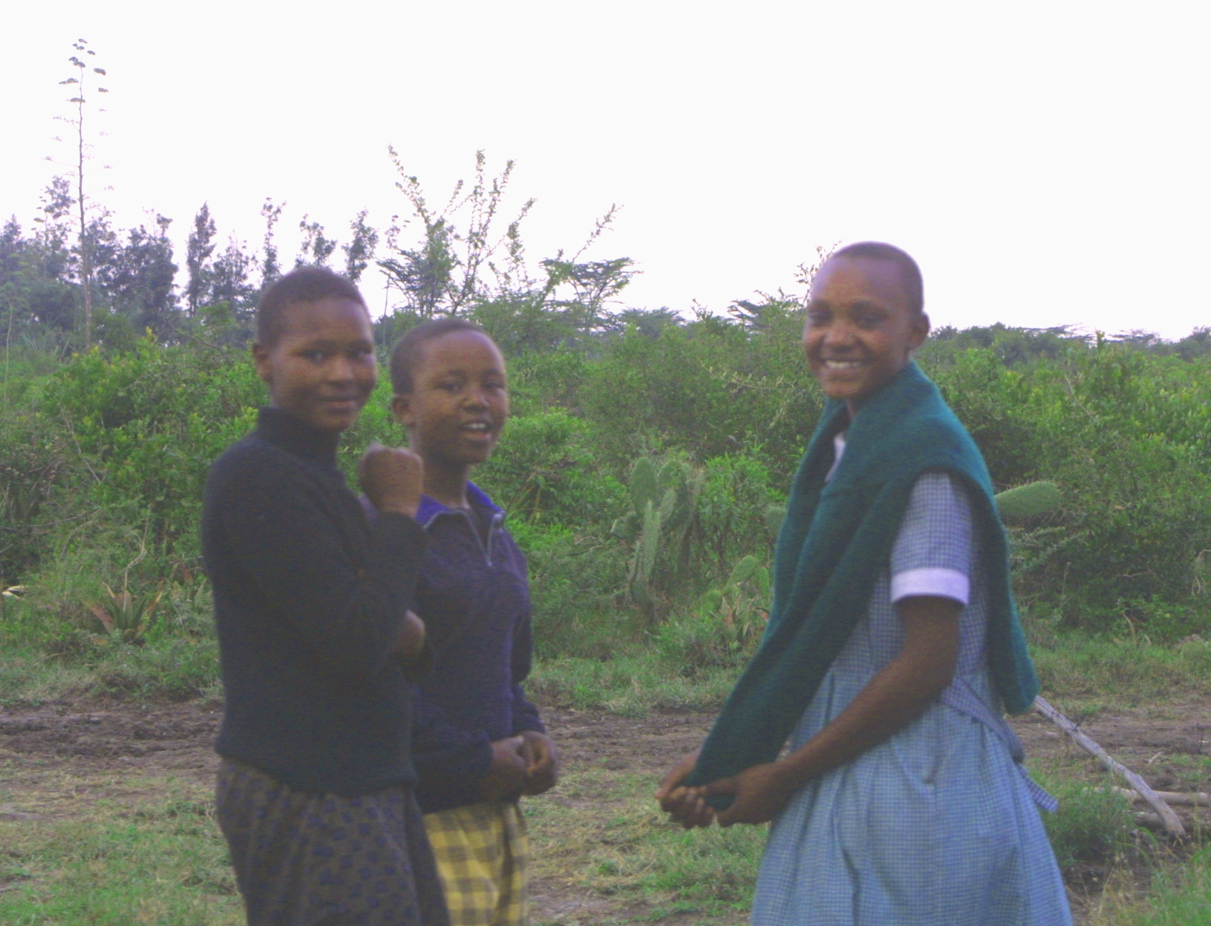 This is me in 2007.  I am front left.  It was a happy moment for me to be in the presence of other Matanya's Hope girls.