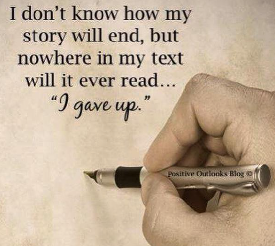 I don't know how my story will end but it will never read....I gave up