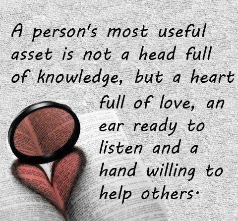 a persons most useful asset is love