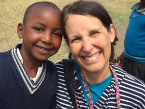 My mom and Wangechi.  It is just so easy to love these kids!