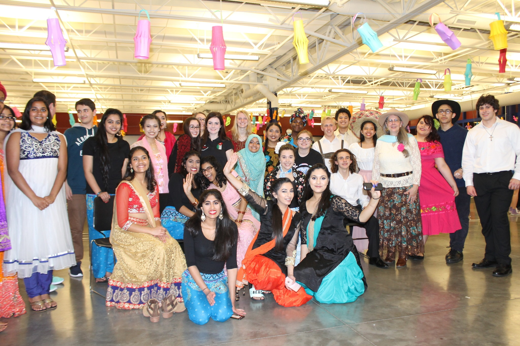 Students from Hamilton Southeastern High School in Fishers, Indiana gather for an International event to benefit the students of Matanya's Hope