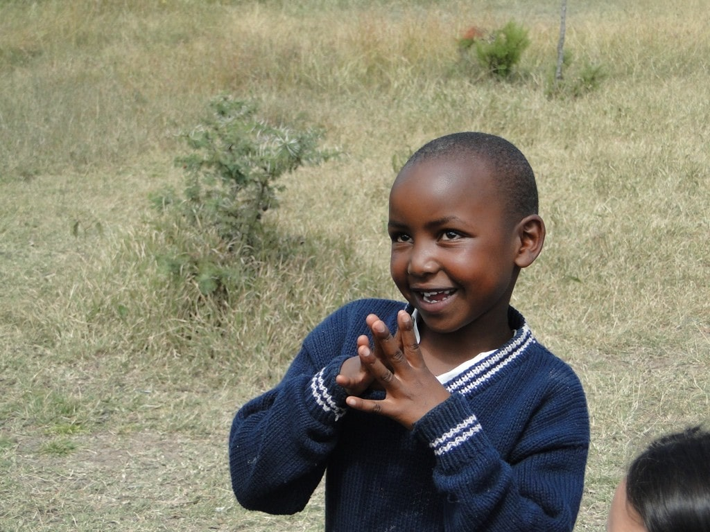 Wangechi can now attend school thanks to her sponsor, Barbara.