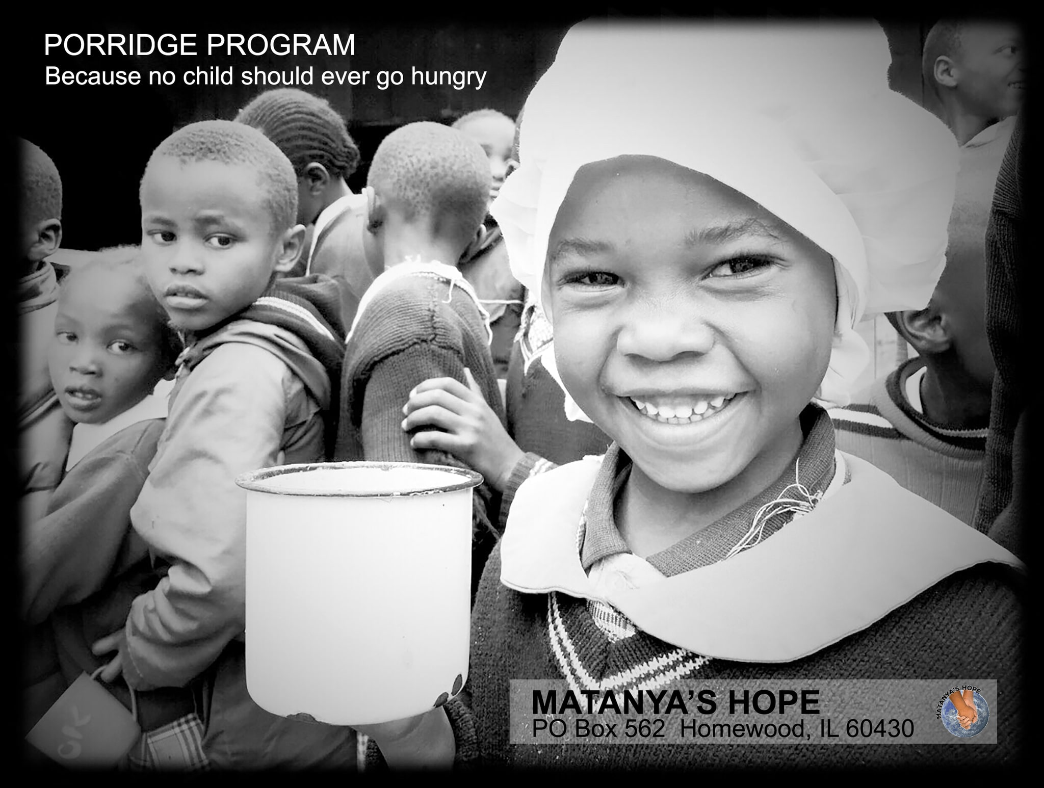 Thanks to Oz of Salt, The Bertram Family, Verde Events, The Gail Scott Family, Stephanie Kazuba and Lucyna Czuba... Matanya's Hope was able to deliver approximately 2,000 cups of hot, nutritious porridge daily this year alone!  This is sometimes the only meal a child will have for an entire day.