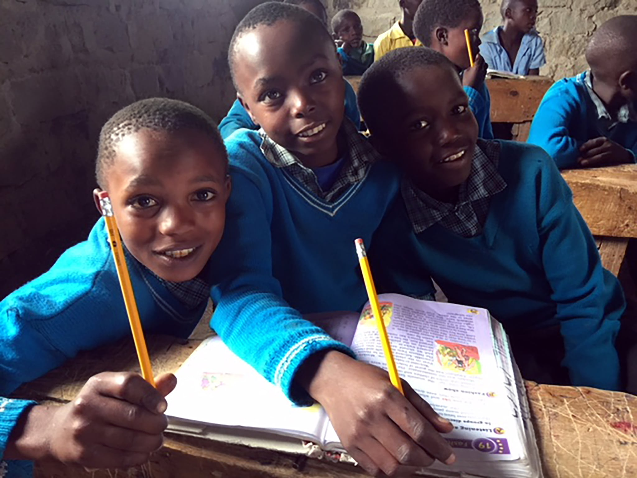 Students at Matanya Primary School are excited to thank their donors for the daily porridge and safe drinking water.