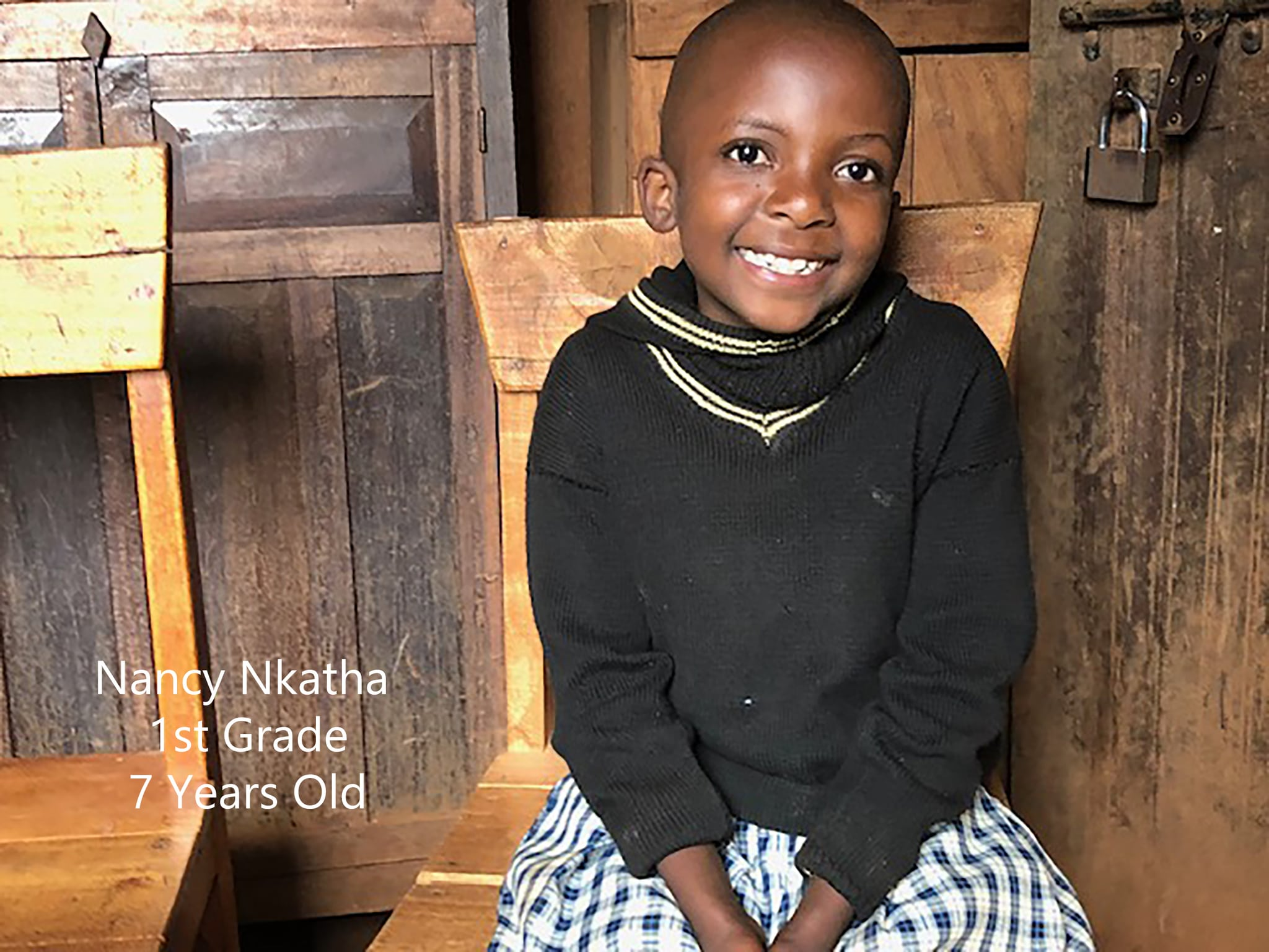 Just sponsored!  Nkatha, orphaned and living with her old, jobless grandmother, can now live and dream with Matanya's Hope.  Sponsorship means she will go to school, enjoy daily nutrition, have clothing, shoes, school supplies and most of all... SHE CAN HOPE.