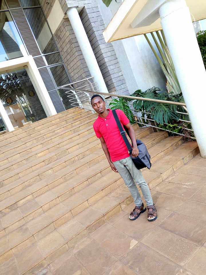 MH university student, Phineas Kaimenyi, is pictured here on University campus.  Only a few years ago, he thought university was a dream for others, not for him.