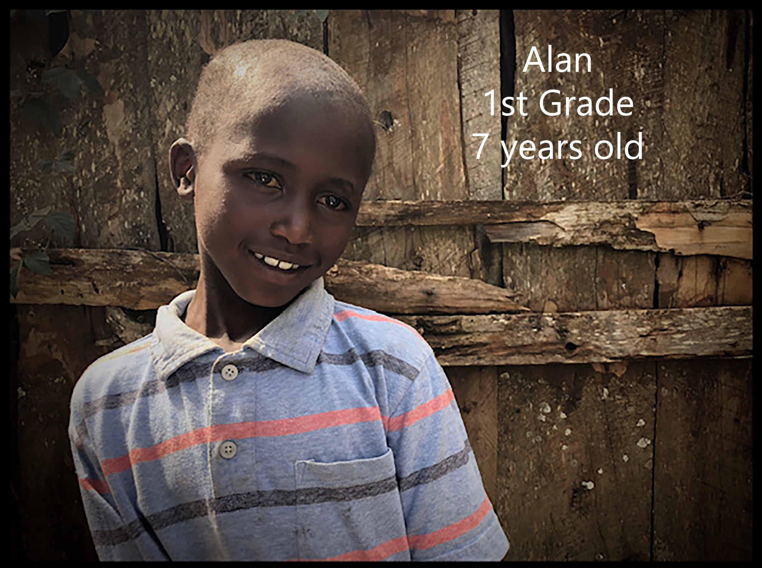 I pray that this little boy is chosen, like I was, so many years ago.  He  longs to feel hope instead of hunger and abandonment. He is 7 years old, a year older than when I was sponsored.   Sponsorship is a light in darkness.   Please - consider changing this little guys life.