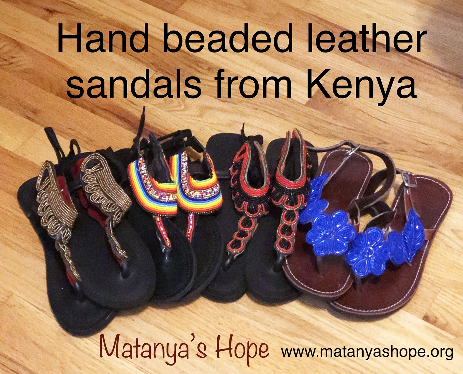 Hand Beaded & Leather Sandals - Matanya's Hope