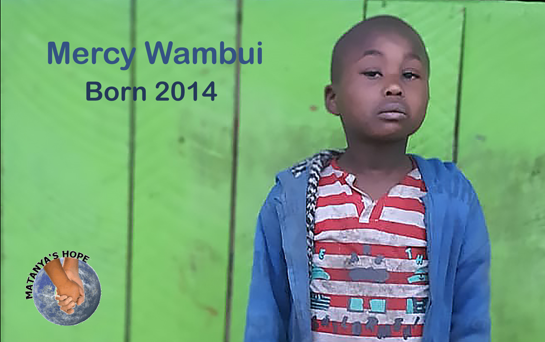 Mercy Wambui was born in 2014, but has only known feeding from the trash for her 6 years of life.   Let's give her the gift of a miracle; let's send her to school.