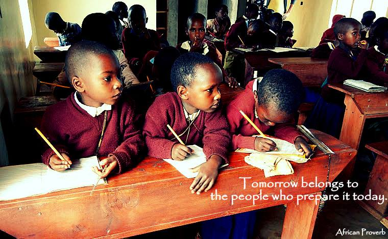 Will you help Simon and Benjamin go to school like these children?   Donate today.
